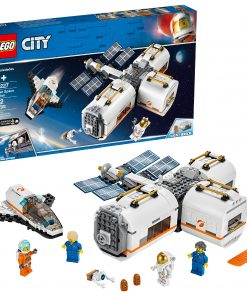 LEGO City Space Lunar Space Station 60227 Building Set with Toy Shuttle