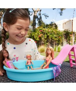 Barbie Blonde Doll and Pool Playset