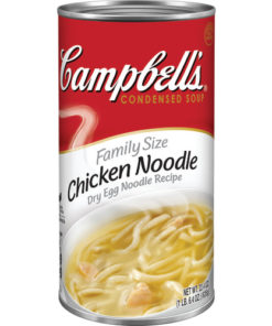 (2 pack) Campbell's Condensed Family Size Chicken Noodle Soup, 22.4 oz. Can