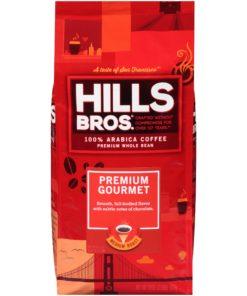 Hills Bros. 100% Arabica Premium Gourmet Whole Bean Coffee, Medium Roast, 32 Ounce