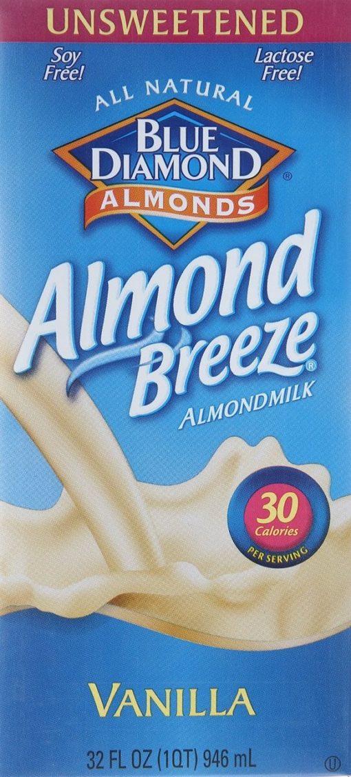 (6 pack) Almond Breeze Unsweetened Vanilla Almond Milk, 32 fl oz