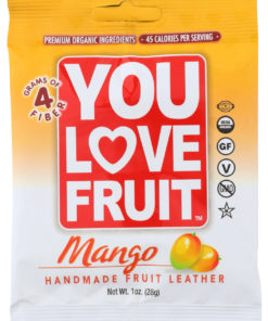 (12 Pack) You Love Fruit Mango Handmade Fruit Leather, 1 Oz.