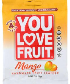 (12 Pack) You Love Fruit Mango Handmade Fruit Leather, 1 Oz.