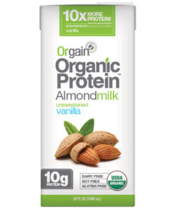 (3 pack) Orgain Organic Protein Almond Milk, Unsweetened Vanilla, 32 fl oz