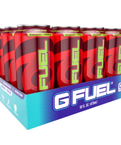 (12 Cans) G Fuel Sour Cherry, Sugar Free Energy Drink, 16 fl oz
