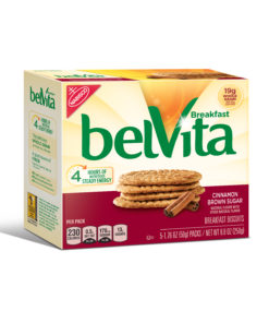 belVita Cinnamon Brown Sugar Breakfast Biscuits, 5 Packs (4 Biscuits Per Pack)