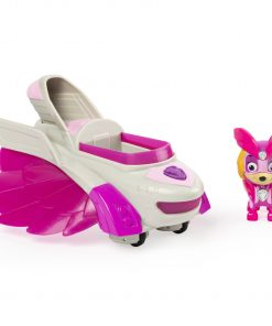 PAW Patrol, Mighty Pups Charged Up Skye'€™s Deluxe Vehicle with Lights and Sounds