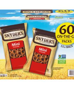 Snyder's Mini Pretzels, Individual Packs, 1.5 Ounce (60 Count)