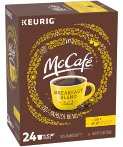 McCafe Breakfast Blend Coffee K-Cup Pods, Caffeinated, 24 ct – 8.3 oz Box