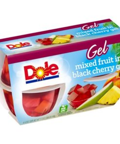 (16 Cups) Dole Fruit Bowls Mixed Fruit in Black Cherry Gel, 4.3 oz cups