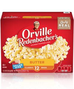 Orville Redenbacher's Butter Popcorn, 3.29 Oz, 12 Ct