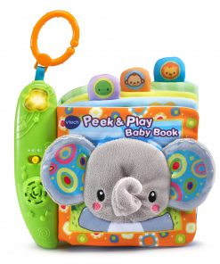 VTech Peek and Play Baby Book, Soft, Attachable, Great Gift for Baby