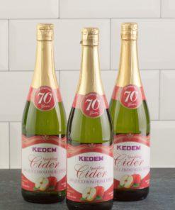 (Pack of 3) Kedem Sparkling Juice, Apple Cider, 25.4 fl oz