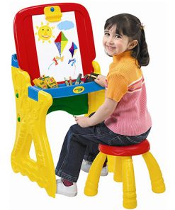 Crayola Play 'N Fold 2-in-1 Art Studio Easel Desk With Stool & Storage