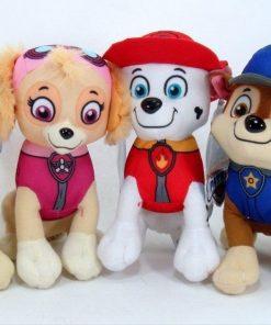 4PC Set: 8″ Paw Patrol Plush Stuffed Animal Toy Set: Chase, Rubble, Marshall & Skye