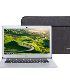 Acer Chromebook 14, Intel Atom x5-E8000 Quad-Core Processor, 14″ HD, 4GB LPDDR3, 32GB eMMC, Protective Sleeve, CB3-431-12K1