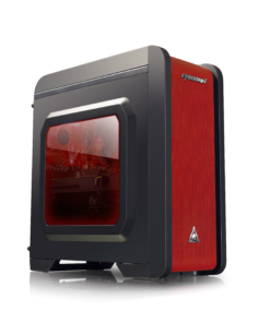 Cybertron GameStation AMD Ryzen 3 2200G 3.50GHz (4 Cores) 8GB DDR4 1TB HDD 120GB SSD AMD RX 580 4GB GDDR5 Graphics WiFi MS Windows 10 Home 64 Bit (Black/Red)