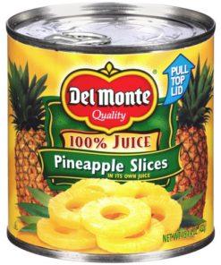 (3 Pack) Del Monte Sliced Pineapple, 15 oz