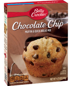 (4 Pack) Betty Crocker Chocolate Chip Muffin and Quick Bread Mix, 14.75 oz