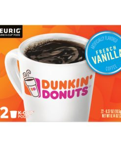 Dunkin' Donuts French Vanilla K-Cup Coffee Pods, 22 Count For Keurig and K-Cup Compatible Brewers