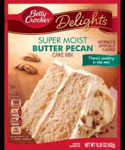 (2 pack) Betty Crocker Super Moist Butter Pecan Cake Mix, 15.25 oz