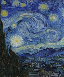 "Jigsaw Puzzles 500 Pieces ""Starry Night"" Gold Edition by Wuundentoy"