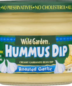 (2 Pack) Wild Garden Hummus Dip Roasted Garlic, 10.74 Oz.