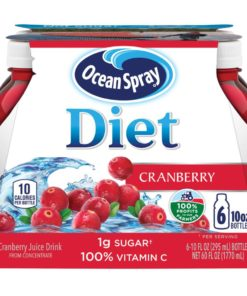 (2 pack) Ocean Spray Diet Juice, Cranberry, 10 Fl Oz, 6 Count