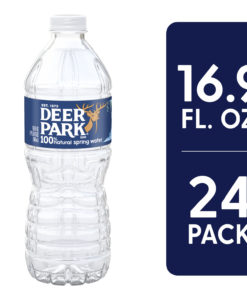 DEER PARK Brand 100% Natural Spring Water, 16.9-ounce plastic bottles (Pack of 24)