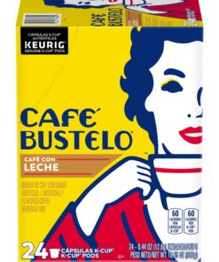 Cafe Bustelo Cafe Con Leche K-Cup Coffee Pods, 24 Count For Keurig and K-Cup Compatible Brewers