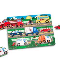 Vehicles Wooden Peg Puzzle, 8pc