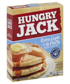 (6 pack) Hungry Jack Extra Light & Fluffy Pancake & Waffle Mix, 32-Ounce