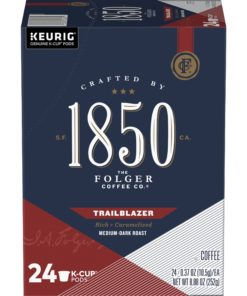 1850 Brand Coffee Trailblazer K-Cup Pods, Medium-Dark Roast Coffee, 24-Count
