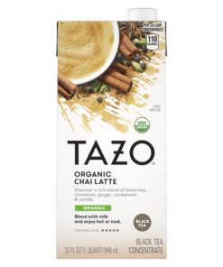 (3 Pack) Tazo Organic Chai Latte Black Tea Concentrate, 32 Fl Oz