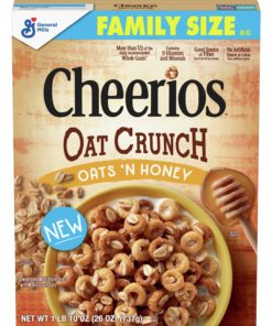 Cheerios Oats 'N Honey Oat Crunch Cereal, 26 Oz