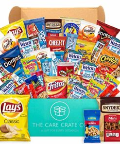 The Care Crate Snack Box Care Package (40 piece Snack Pack) Chips Variety Pack, Cookies, Pretzels, Candies
