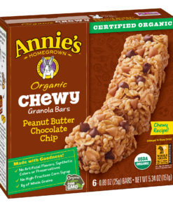 Annie's Organic Chewy Peanut Butter Chocolate Chip Granola Bars 6 Ct 5.34 oz