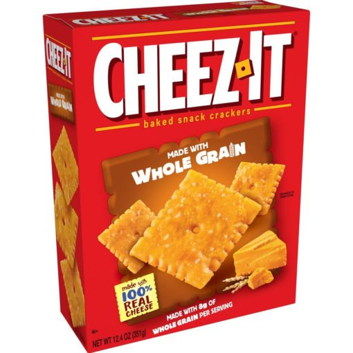 Cheez-It Baked Snack Cheese Crackers, Made with Whole Grain, 12.4 Oz