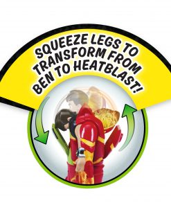 Ben 10 Ben-to-Heatblast Transforming Figure