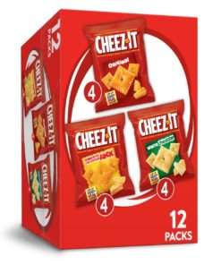 Cheez-It Variety Pack of Baked Cheese Crackers – 1.02 Oz Bags (12 Count)