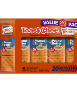 Lance ToastChee Peanut Butter Sandwich Crackers, Family Size 20 Ct