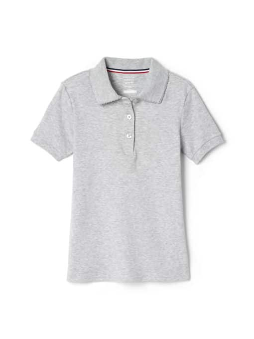 French Toast Girls 4-20 School Uniform Short Sleeve Picot Collar Interlock Polo Shirt
