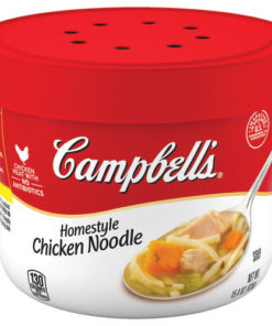 (3 Pack) Campbell's Homestyle Chicken Noodle Soup Microwavable Bowl, 15.4 oz.