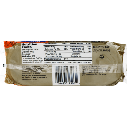 (4 Pack) Brunswick Kippered Seafood Snack, 3.53 oz Can