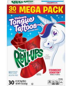 Fruit Roll-Ups, Strawberry Sensation, 30 ct, 0.5 oz