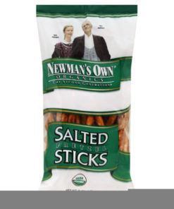 NEWMANS OWN ORGANIC Pretzel Stick with Salt, 8 OZ (Pack of 12)