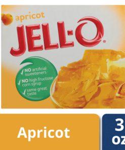 Jell-O Apricot Instant Gelatin Mix, 3 oz Box