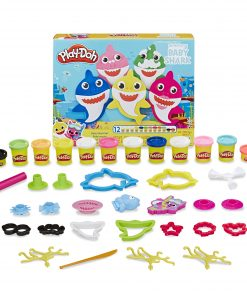 Play-Doh Pinkfong Baby Shark Set with 12 Non-Toxic Cans (22 oz)