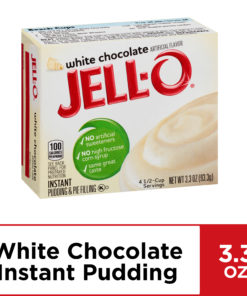 (4 Pack) Jell-O Instant White Chocolate Pudding & Pie Filling, 3.3 oz Box