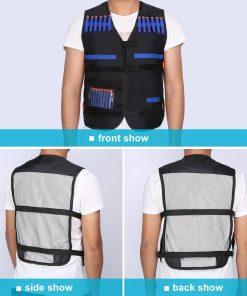Moksha Kids Elite Vest Toys Black Outdoor Game Vest Gifts Toys For EVA Gun Series Gifts Toys Elite